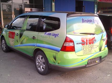 Branding Mobil pekanbaru, Sticker one way pekanbaru, pasang branding mobil pekanbaru, pasang sticker one way mobil pekanbaru, pasang sticker di angkot pekanbaru